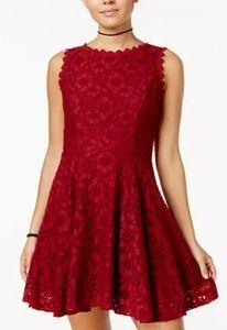 """Lace Fit & Flare Dress """"Cabernet"""""""